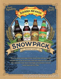 """mybeerbuzz.com - Bringing Good Beers & Good People Together...: Sierra Nevada To Release """"Snow Pack"""" Seasonal Samp..."""