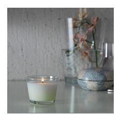 MÅTTFULL Duftkerze im Glas IKEA Wenn die Kerze verbraucht ist, lässt sich das Glas für Teelichter benutzen.