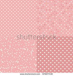 Set Seamless pattern polka dot hearts. Vector isolated on trend pastel background. https://www.shutterstock.com/g/ORLOVA+YULIA?rid=3577073&utm_medium=email&utm_source=ctrbreferral-link