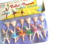 Vintage Birthday Cake Decoration Ballerina by DairyFarmAntiques