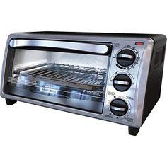 Black & Decker Black Toaster Oven - 4 Slice Emery What do you think? Black And Decker Toaster, Black Toaster, Small Toaster Oven, Toaster Ovens, Stainless Steel Toaster, Keep Food Warm, Oven Range, Small Kitchen Appliances, Kitchen Gadgets