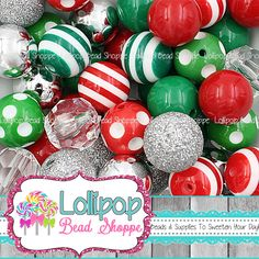 Your place to buy and sell all things handmade Cheap Beads, Chunky Beads, Polymer Clay Beads, Plastic Beads, Acrylic Beads, Metal Beads, Bubble Gum, Jewelry Findings, Red Green