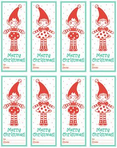 Elf gift tags- for next year