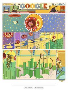 Little Nemo in Google Land #illustrazione #google