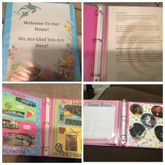 My welcoming binder for the foster kids