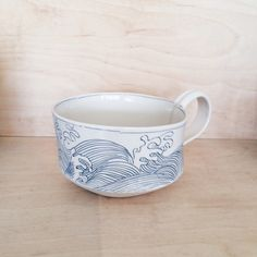 Tsunami Mug -- linda fahey ceramics