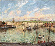 Camille Pissarro, L'avant-Port De Dieppe, Après-Midi, Temps Lumineux