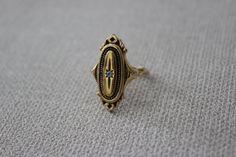 Vintage Gold Tone Edwardian Style Ring by cocoandorange on Etsy