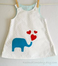 elephant dress - good idea for embellishment