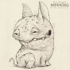 This guy left you a poop somewhere…you'll find out where later. #morningscribbles