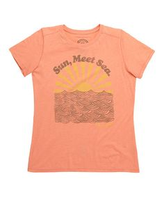 Another great find on #zulily! Sunkissed Orange 'Sun, Meet Sea' Cool Tee by Life is good® #zulilyfinds