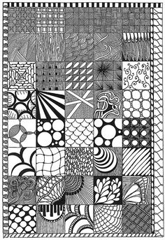 Doodle Patterns 681943568568481863 - Zentangle Sampler Doodle Art Sampler Zentangle Source by legrandalden Doodles Zentangles, Tangle Doodle, Tangle Art, Zentangle Drawings, Zentangle Patterns, Doodle Drawings, Doodle Art, Zen Doodle Patterns, Doodle Borders