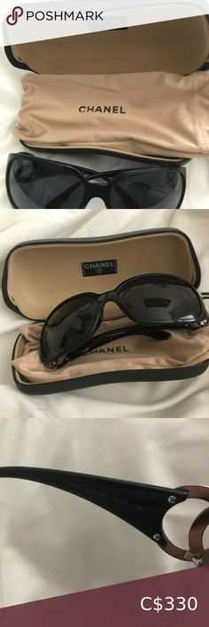 "CHANEL sunglasses Authentic Chanel Black 6014 C.501/87 64_16 120 3n Sunglasses Measurements: 5.5""L x 5.5""W x 2""H Comes with dust bag and Chanel eyeglass case *Used and have owned since 2007 A few minor scratches on the hard case but sunglasses are in very good condition CHANEL Accessories Sunglasses Chanel Sunglasses, Sunglasses Accessories, Round Sunglasses, Sunglasses Case, Women Accessories, Leather Glasses Case, Chanel Pearls, Handbag Organization"