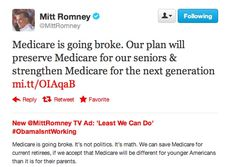 """The Guillotine: Mitt's Bullshit Tweet: """"Medicare Is Going Broke"""" Disputed By Experts"""