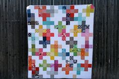 rainbowplus by Ashley of Film in the Fridge blog: http://filminthefridge.com/2013/02/19/kates-quilt/