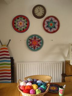 Use mandala crochet pattern for wall art...