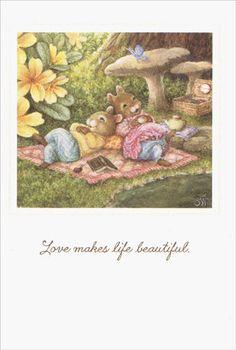 Relax on Blanket - Holly Pond Hill Birthday Card by Sunrise Greetings #SunriseGreetings #BirthdayAdult