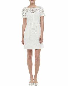 Camilla Lace-Overlay Bubble-Skirt Dress by Catherine Malandrino at Neiman Marcus.