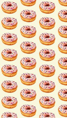 Donuts ♡ shared by nati on We Heart It Wallpaper For Your Phone, Emoji Wallpaper, Kawaii Wallpaper, Tumblr Wallpaper, Pattern Wallpaper, Wallpaper Wallpapers, Iphone Wallpapers, Cellphone Wallpaper, Wallpaper Ideas
