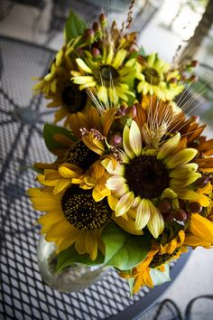 sunflowers from our wedding
