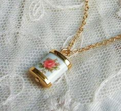 Japanese Vintage Glass Charm Necklace by CocoroJewelry