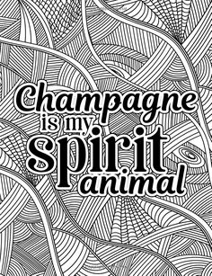 Amazon A Snarky Adult Colouring Book Champagne Is My Spirit Animal