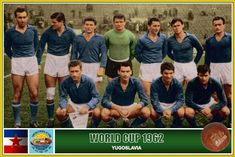 Yugoslavia team group at the 1962 World Cup Finals. Fifa, World Cup Teams, Soccer Cards, World Cup Final, Football Soccer, Couple Photos, Group, Collection, Chile