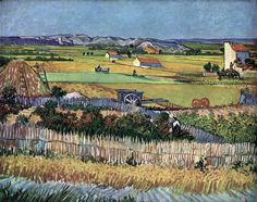 Van Gogh - Harvest at La Crau (The Blue Cart) June 1888, Arles