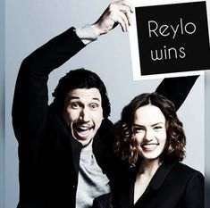 Image may contain: 2 people, people smiling Star Wars Party Favors, Knights Of Ren, Star Wars Kylo Ren, The Force Is Strong, Love Stars, Reylo, Star Wars Art, Best Couple, Good Movies