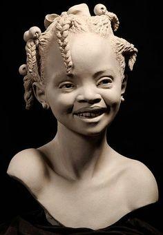 Artist Philippe Faraut France, 1963 French teacher, sculptor, furniture designer & woodcarver Philippe Faraut is a. African American Art, African Art, Famous Sculptures, Afro Art, Paperclay, Sculpture Clay, Stone Sculptures, Black Art, Love Art