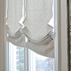 Relaxed roman shade with optional trims by recreateyour on Etsy Linen Roman Shades, Faux Roman Shades, Jeep Renegade, Newel Post Caps, Interior Window Trim, Interior Doors, Relaxed Roman Shade, Faux Stone Panels, Classic Window