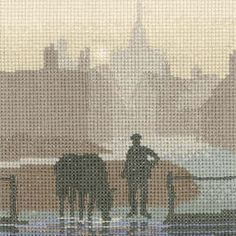 Welcome Drink - Sepia Cross Stitch