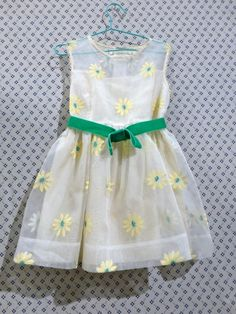 So Pretty - Retro inspired daisy embroidered sheer layered dress by Caramel Baby and Child for spring 2015