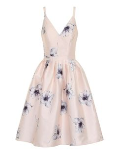 **Chi Chi London Floral v-neck midi dress - Dorothy Perkins