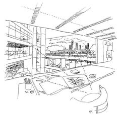 Norman Fosters sketch of Commerzbank