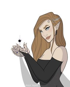A stunning drawing of Feyre by Maggiepalmiter