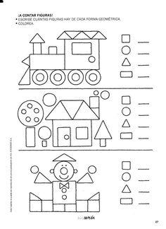 Preschool Shapes Worksheets for January. Kindergarten Activities, Learning Activities, Preschool Activities, Kids Learning, Preschool Shapes, Shapes Worksheets, Kids Math Worksheets, Teaching Shapes, Math For Kids
