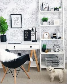 Nowadays, everyone wants a home office to work on problems that have just taken home from work, however, that is not the reason for the room to be boring! Below are some concepts of decorating a home office that can put some enthusiasm in your home office Home Office Space, Home Office Design, Home Design, Interior Design, Design Ideas, Office Workspace, Office Designs, Office Setup, Simple Interior