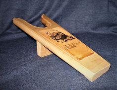 Vintage Wood & Leather Boot Jack The Hayloft Gatlinburg TN EUC #Handmade