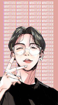 #exo #baekhyunwallpaper #wallpaper #exowallpaper #exofanart #fanart Exo Xiumin, Baekhyun Fanart, Kpop Exo, Kpop Fanart, Exo Anime, Anime Guys, Anime Art, Chibi, Exo Stickers