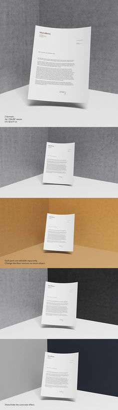 Here is a simple but neat letterhead mock-up in two formats A4 and US, created and released by Queql...