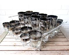 Vintage Silver Ombre Dorothy Thorpe Glasses by LaRouxVintage
