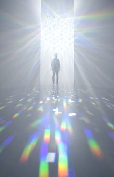 """archatlas: """"Spectrum by Tokujin Yoshioka The Shiseido Gallery will hold an exhibition of a new installation by Tokujin Yoshioka. This installation will show light that fills the room with infinite."""