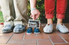 Thanks, Pinterest, for giving us our baby announcement idea