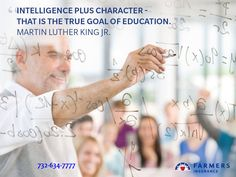 Use your knowledge to make the world a better place. 732-634-7777 #insurance #mlk