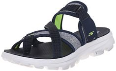 Skechers Performance Womens Go Walk MoveRelax Sandal NavyWhite 6 M US *** You can find more details by visiting the image link.