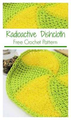 49 ideas crochet dishcloth washcloth free knitting for 2019 Tunisian Crochet Patterns, Crochet Patterns For Beginners, Crochet Tutorials, Crochet Designs, Diy Crochet, Crochet Hats, Irish Crochet, Crochet Ideas, Crochet Dishcloths