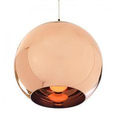 Koperen lamp. Koperen lamp Tom Dixon. Koper als accentkleur geeft een warme en industriele uitstraling