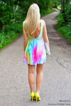 Check out more rainbow bright fashion here! #fashion #rainbow