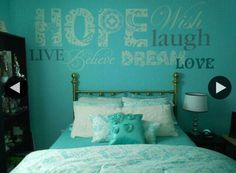 tiffany blue teen girls bedrooms design dazzle not so much the words but they coleo - Teenage Room Decor